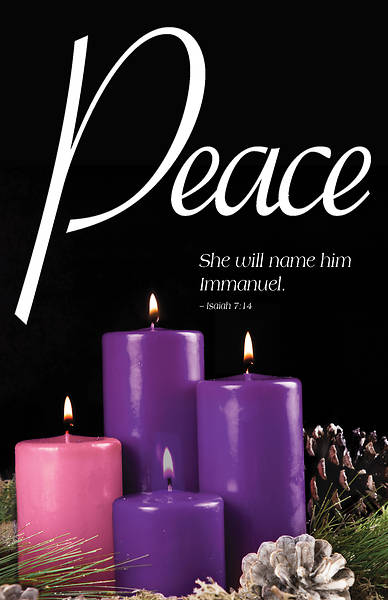 Peace Advent Candle Sunday 4 Bulletin (Pkg of 50)