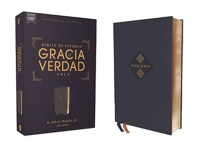 Picture of Nbla Biblia de Estudio Gracia Y Verdad, Leathesoft, Azul Marino, Interior a DOS Colores