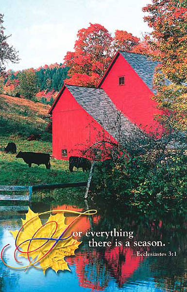 Picture of Fall - Red Barn, Regular Bulletin (Package of 50)