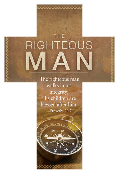 The Righteous Man Fathers Day Cross Bookmark Pkg of 25