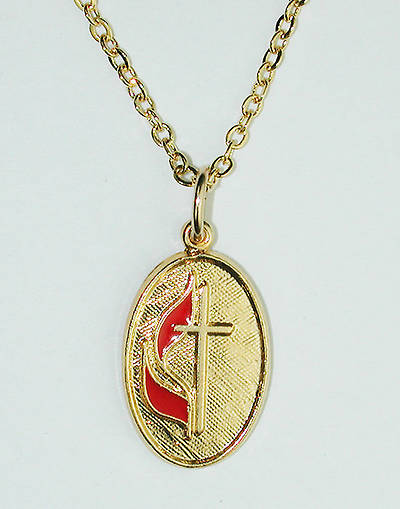 United Methodist Oval Necklace