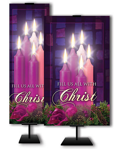 Fill Us All With Christ Advent 3 x 5 Banner