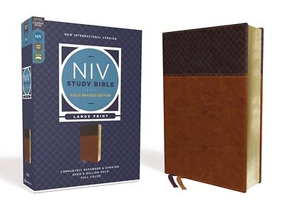 Picture of NIV Study Bible, Fully Revised Edition, Large Print, Leathersoft, Brown, Red Letter, Comfort Print