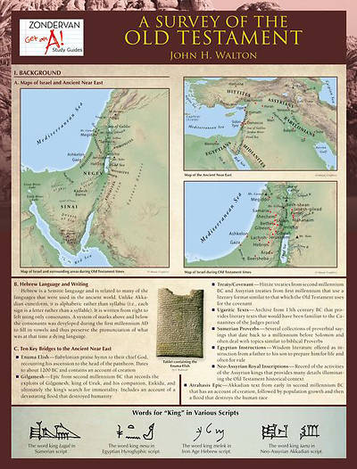 Picture of A Survey of the Old Testament Laminated Sheet
