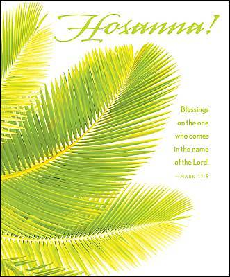 Hosanna Palm Sunday Bulletin, Large (Pkg of 50)
