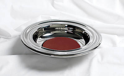 RemembranceWare Silver Offering Plate with Red Felt