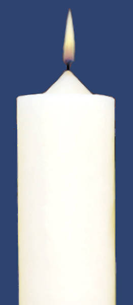 Picture of 51% Beeswax Altar Candles Emkay 17 1/2 x 1 1/2 Pack of 4 Plain End