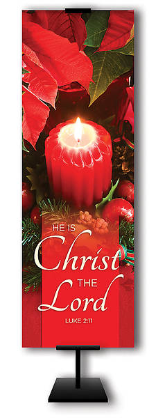 Picture of He is Christ the Lord Advent 2' x 6' Banner