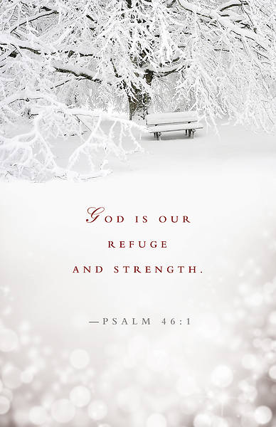 Refuge and Strength Winter Bulletin (Pkg of 50)