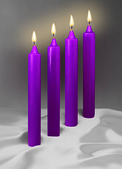 """Picture of Emkay Advent Candle Set 12"""" X 1-1/2"""" - 4 Purple"""