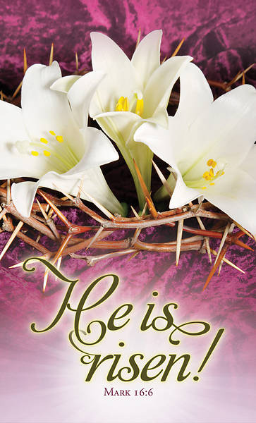 Picture of He is Risen Easter Announcement Folder