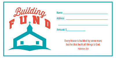 Building Fund Offering Envelope Pkg of 100 Pkg of 100