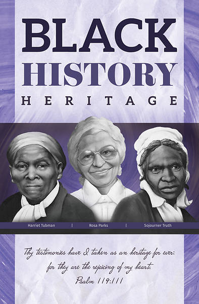 Picture of Thy Testimonies Black History Heritage Regular Size Bulletin