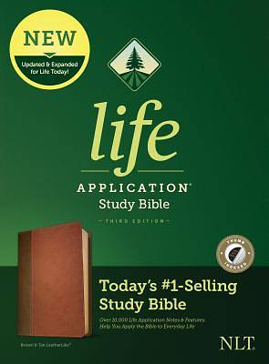 Picture of NLT Life Application Study Bible, Third Edition (Leatherlike, Brown/Tan, Indexed)