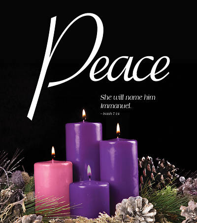 Peace Advent Candle Sunday 4 Bulletin, Large (Pkg of 50)