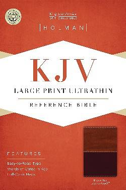 KJV Large Print Ultrathin Reference Bible, Brown/Tan Leathertouch