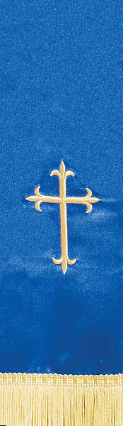 Satin Blue Latin Cross Stole