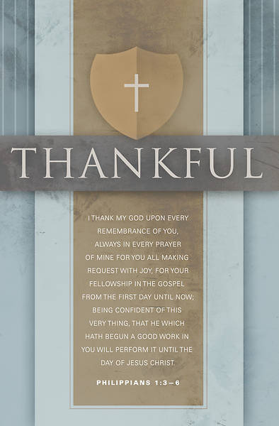 I Thank My God Philippians 1:3-6, KJV Regular Size Bulletin