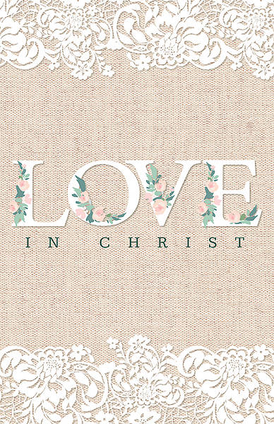 Picture of Love in Christ Wedding Regular Size Bulletin