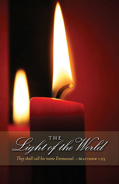 Christmas Candlelighting/Light of the World Bulletin 2011, Regular (Package of 50)