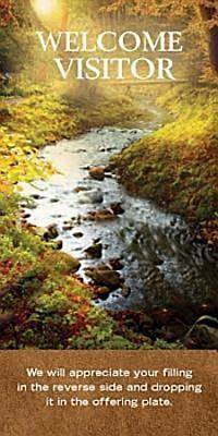 Picture of Welcome Visitor To Our Church Fall Stream Card (Pkg of 25)