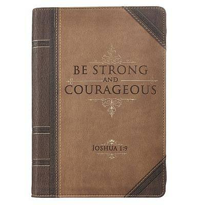 Picture of Journal Lux-Leather with Zipper Be Strong Joshua 1
