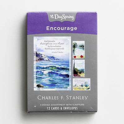 Picture of Charles Stanley -  Encouragement Boxed Cards Assorted (Box 12)