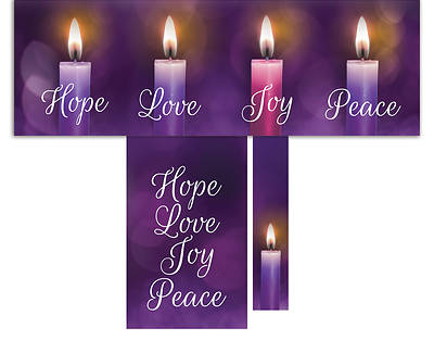 Picture of Lights of Advent 3-Piece Parament Set - Purple
