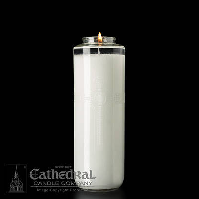Cathedral SacraLite 8-Day Glass Bottle Style Sanctuary Light