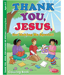 Thank You, Jesus, for Making Me Special Coloring Book 6pk
