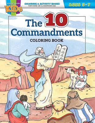Kid/Fam Ministry Color and ACT Bks - General - The Ten Commandments (5-7)