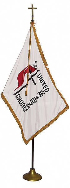 United Methodist 3 X 5 Indoor Flag with Pole