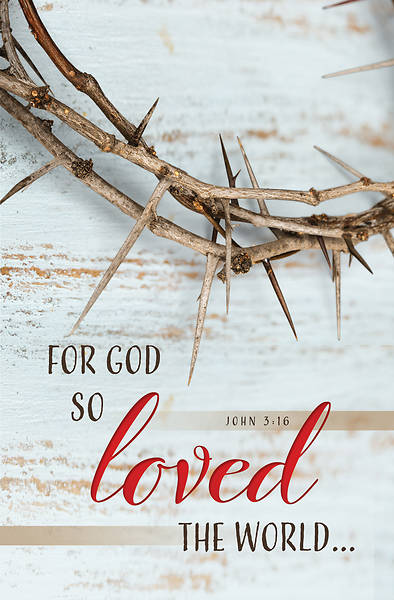 Picture of For God So Loved The World Good Friday Regular Size Bulletin