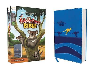 Picture of Nasb, Adventure Bible, Leathersoft, Blue, Full Color Interior, Red Letter Edition, 1995 Text, Comfort Print