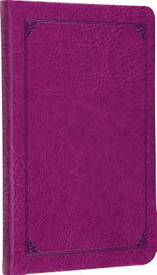 Compact New Testament ESV with Psalms and Proverbs (Trutone, Plum, Frame Design)