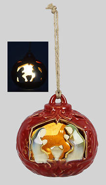 Picture of Ceramic Nativity Ornament -LED