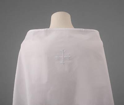 100% Cotton Amice with White Cross