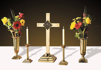 Picture of Sudbury LC915 Solid Brass Altar Set