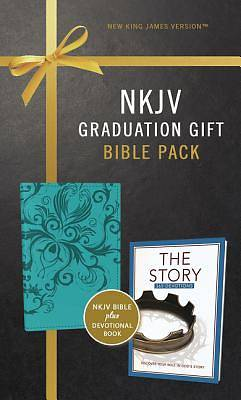 Picture of NKJV, Graduation Gift, Bible Pack for Her, Blue, Red Letter Edition