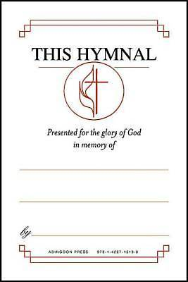 "Picture of United Methodist Hymnal Bookplates ""In memory of..."" (Pkg of 48)"