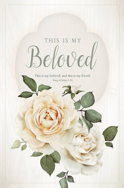 This is My Beloved Wedding Bulletin - Pack of 100