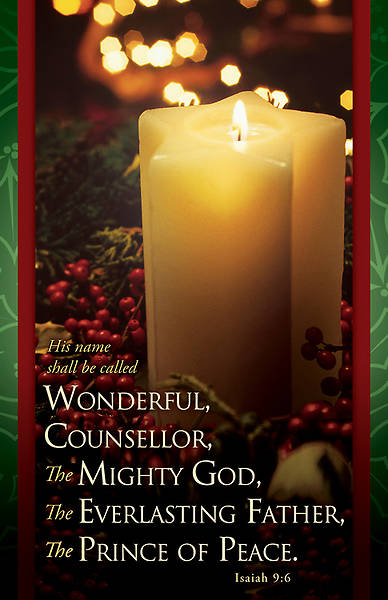 Wonderful Counselor Christmas Bulletin Regular (Package of 100)