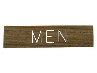 Picture of Men Formica Sign 2x8 with Adhesive Back