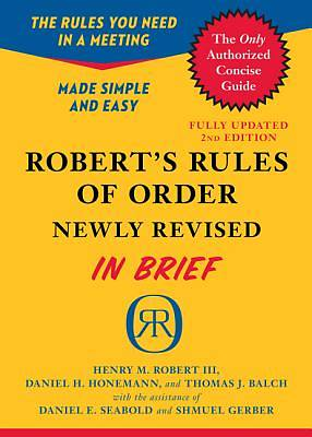 Roberts Rules of Order in Brief, Newly Revised 2nd Edition