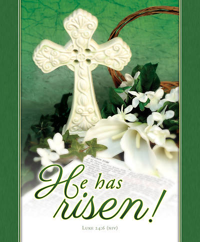He Has Risen Easter Legal Size Bulletin