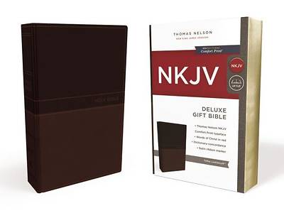NKJV, Deluxe Gift Bible, Imitation Leather, Tan, Red Letter Edition