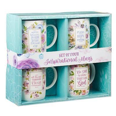 Picture of Mug Set 4-PC Pastel Floral