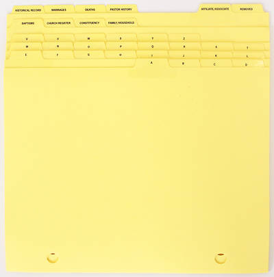UMC Membership Record System Index Tabs