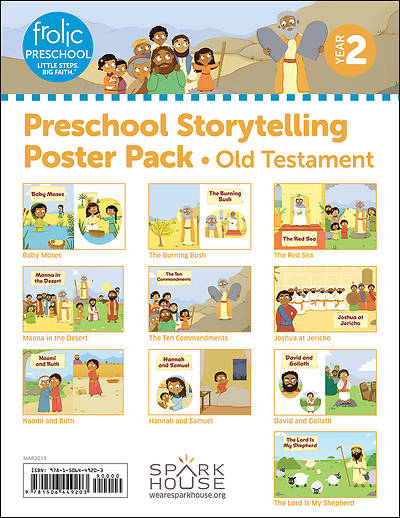 Picture of Frolic Preschool  Old Testament  Year 2  Ages 3-5  Storytelling Posters