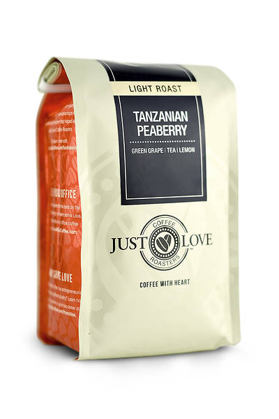 Just Love Tanzanian Peaberry Light Roast Ground Coffee